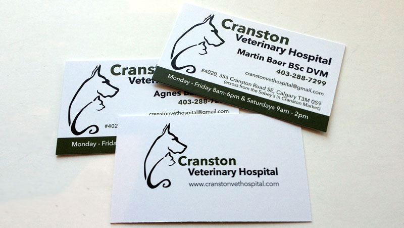 Cranston Veterinary Cards