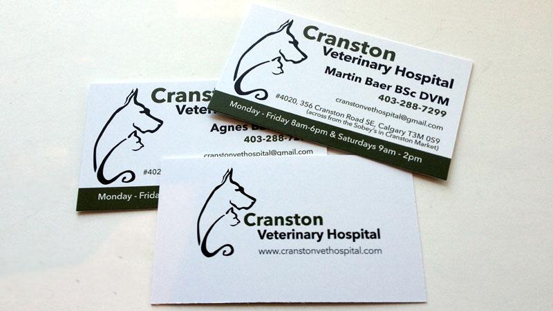 Cranston Veterinary Cards