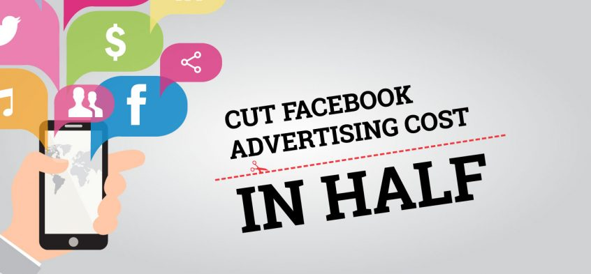 illustration of mobile phone suggesting facebook advertising with the post title