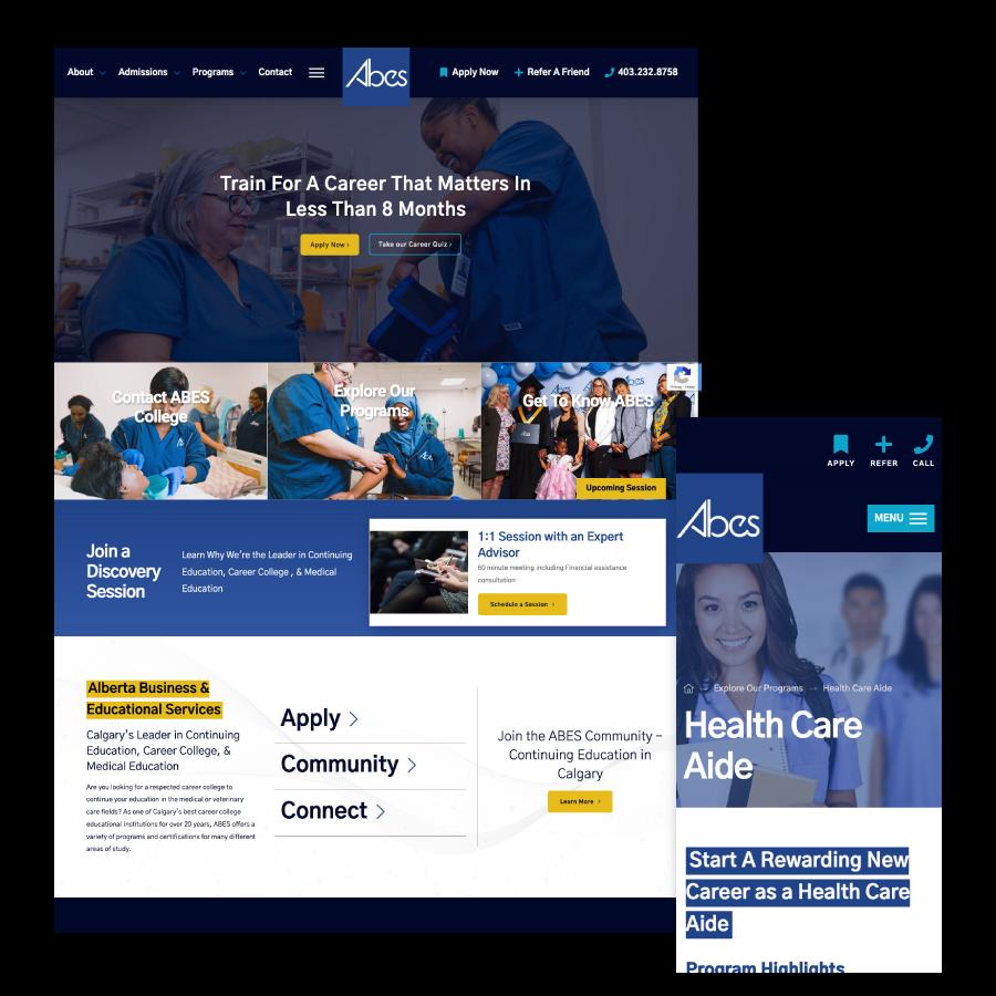 web design calgary ABES FBC
