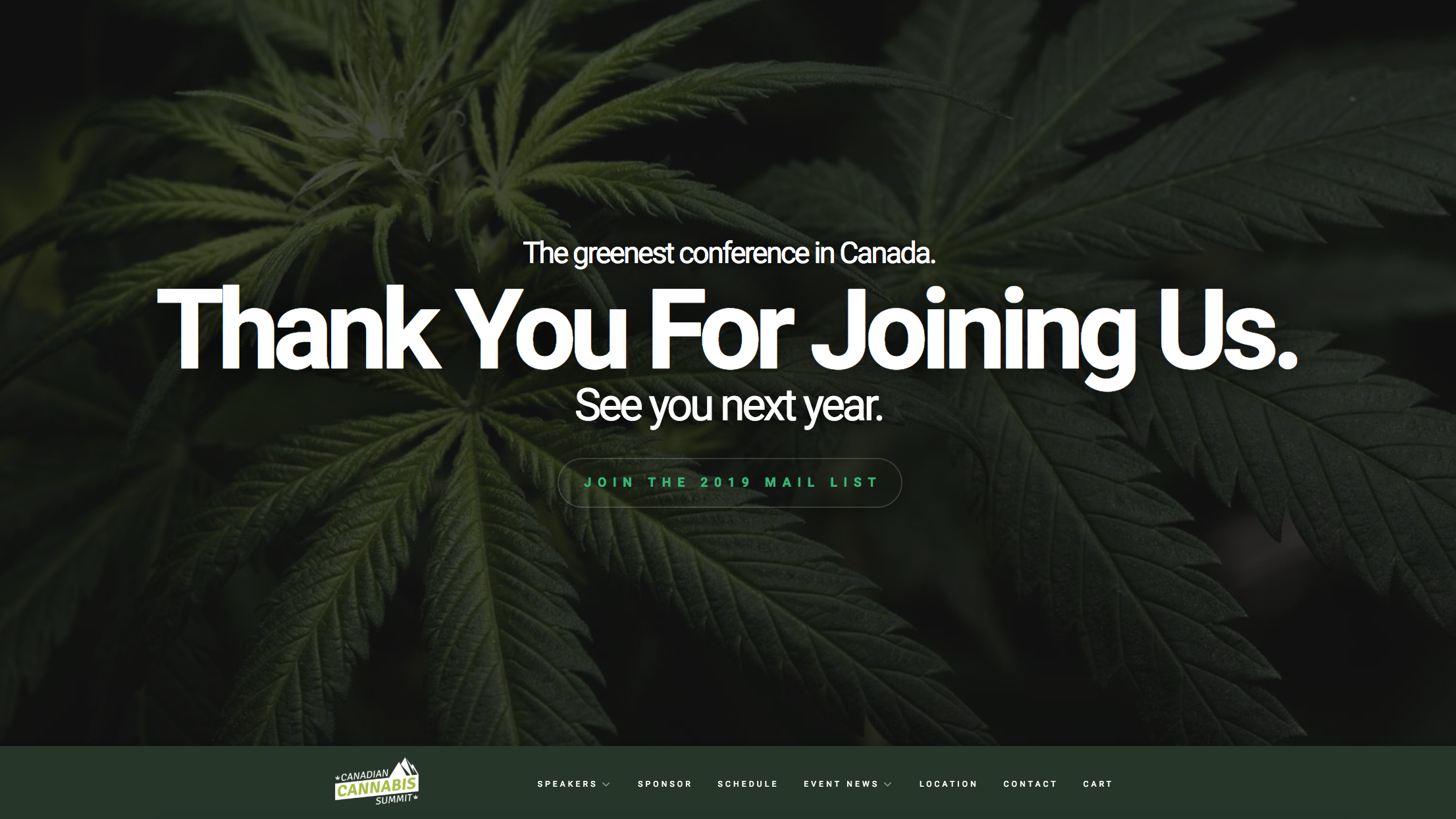 Canadian Cannabis Summit Homepage